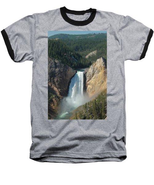 Upper Falls, Yellowstone River Baseball T-Shirt