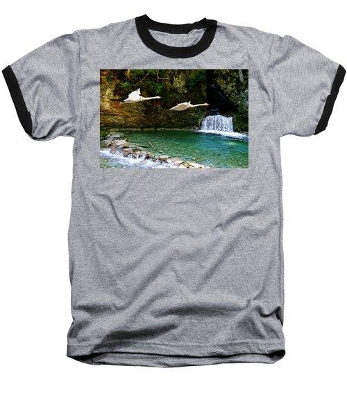 Upper Margaret Falls Baseball T-Shirt by Ed Hall