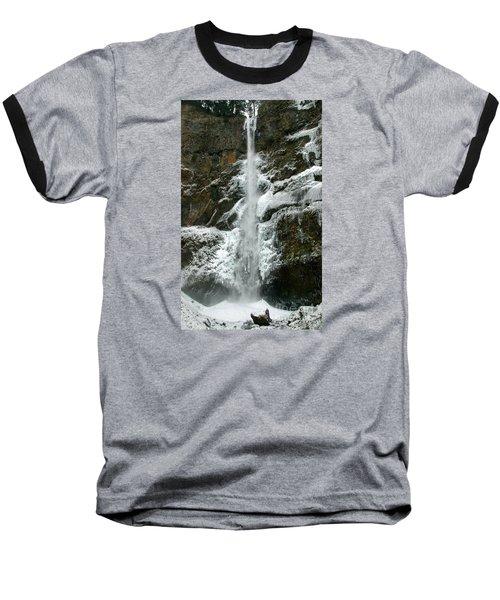 Upper Multnomah Falls Ice Baseball T-Shirt
