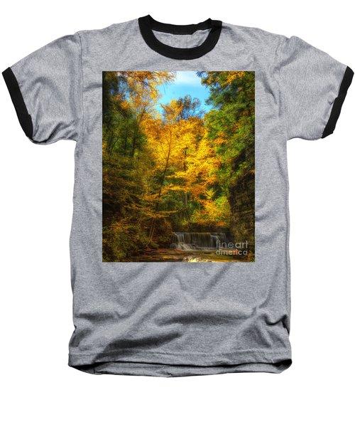 Upper Pinnacle Falls Baseball T-Shirt