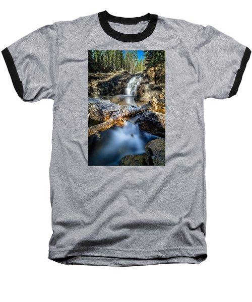 Upper Provo River Falls Baseball T-Shirt