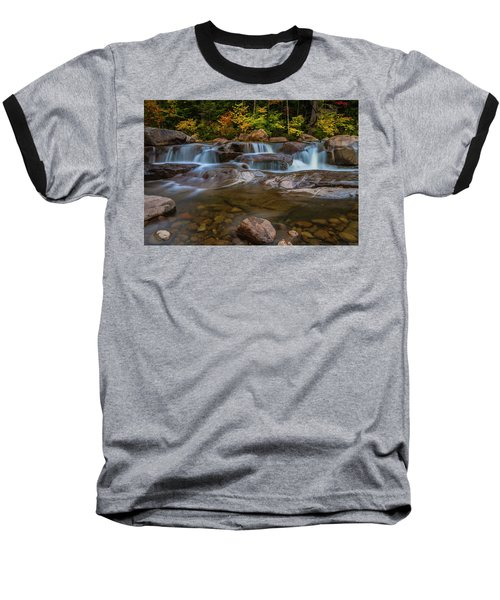 Baseball T-Shirt featuring the photograph Upper Swift River Falls In White Mountains New Hampshire by Ranjay Mitra