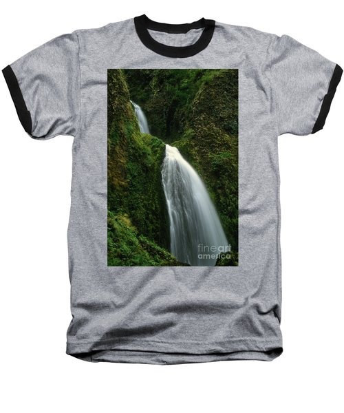 Upper Wahkeena Falls Baseball T-Shirt