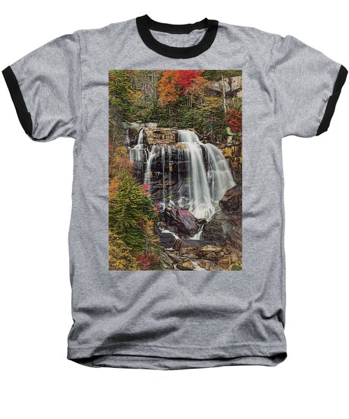 Baseball T-Shirt featuring the photograph Upper Whitewater Falls North Carolina by Bellesouth Studio