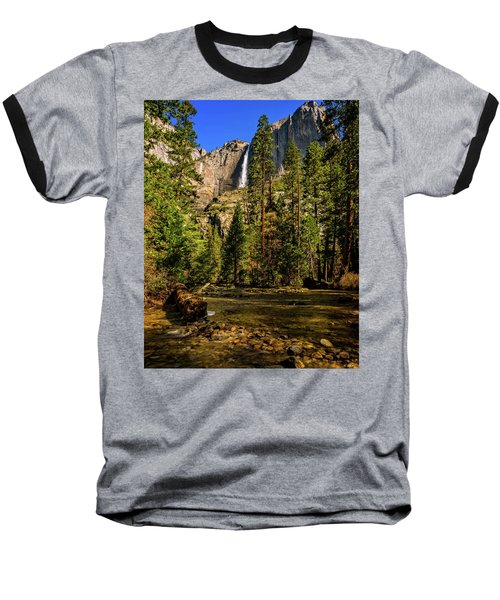 Upper Yosemite Falls From Yosemite Creek Baseball T-Shirt