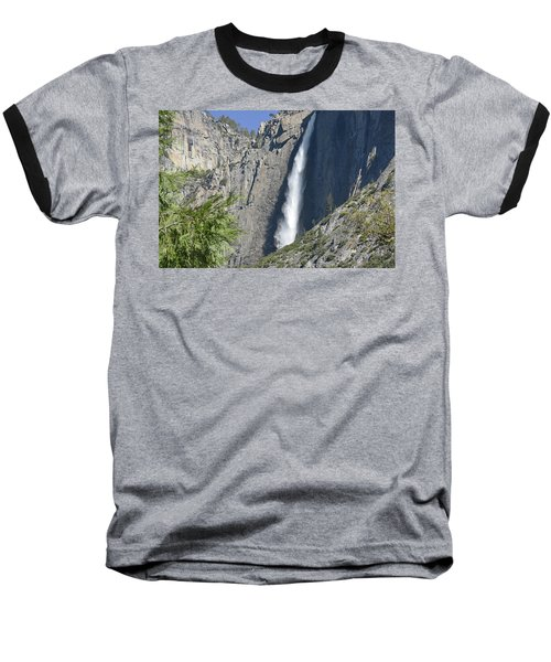 Upper Yosemite Falls Baseball T-Shirt
