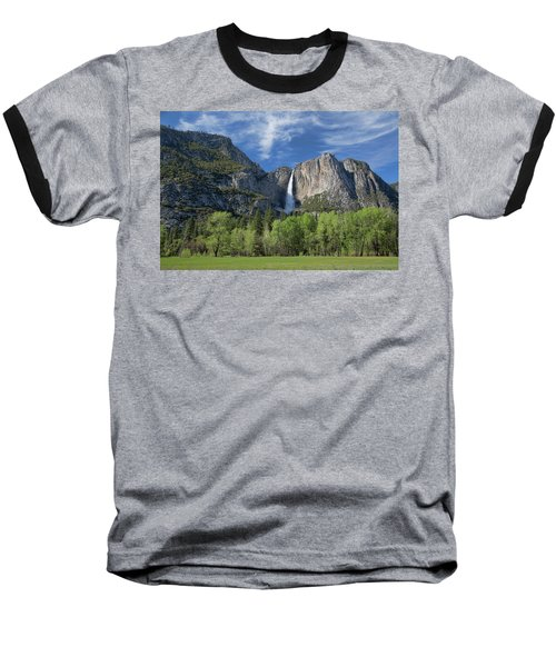 Upper Yosemite Falls In Spring Baseball T-Shirt