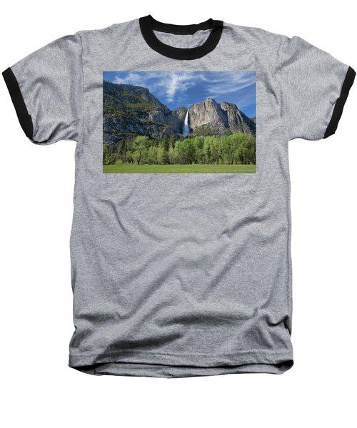 Upper Yosemite Falls In Spring Baseball T-Shirt