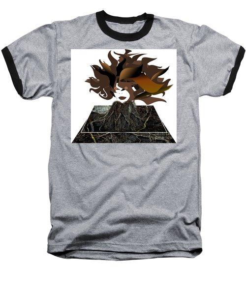 Uprooted Baseball T-Shirt by Belinda Threeths