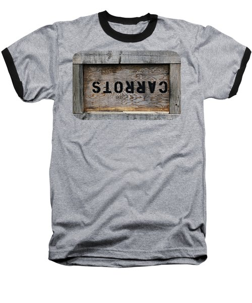 Upside Down Carrot Box Baseball T-Shirt