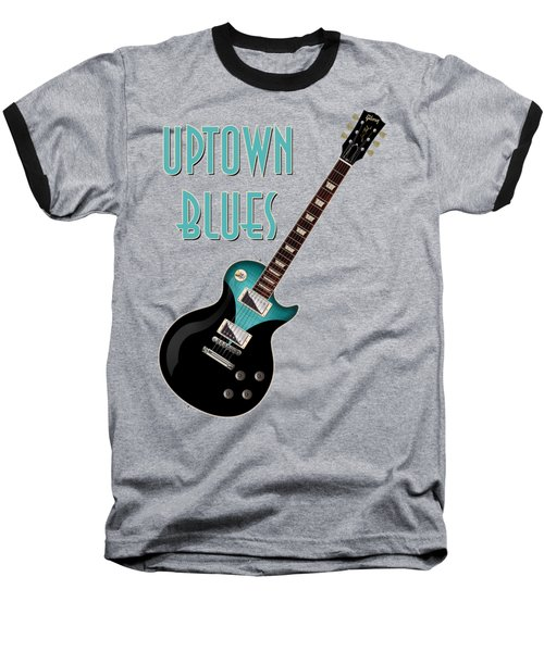 Uptown Blues T-shirt Baseball T-Shirt by WB Johnston