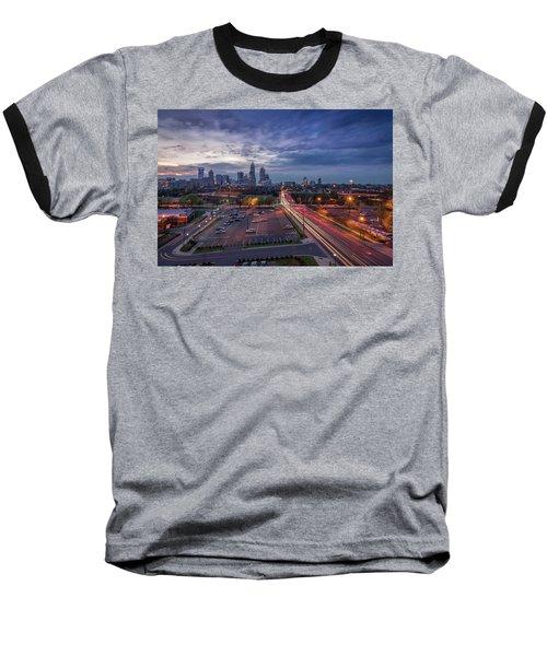 Uptown Charlotte Rush Hour Baseball T-Shirt