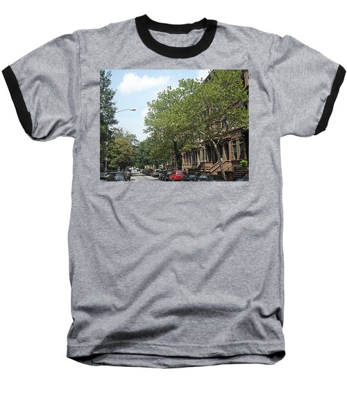 Uptown Ny Street Baseball T-Shirt by Vannetta Ferguson