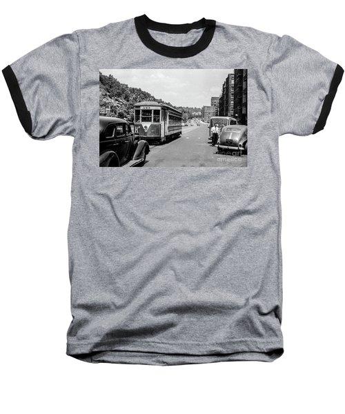 Uptown Trolley Near 193rd Street Baseball T-Shirt