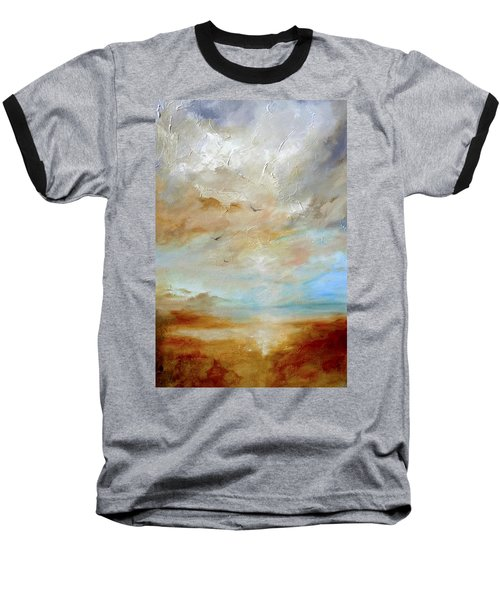 Baseball T-Shirt featuring the painting Upwardly Mobile by Dina Dargo