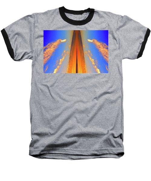Upwards Two  Baseball T-Shirt by Lyle Crump