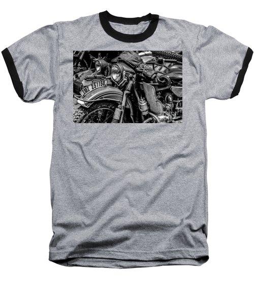 Ural Patrol Bike Baseball T-Shirt by Anthony Citro