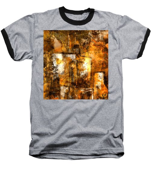 Baseball T-Shirt featuring the mixed media Urban #3 by Kim Gauge