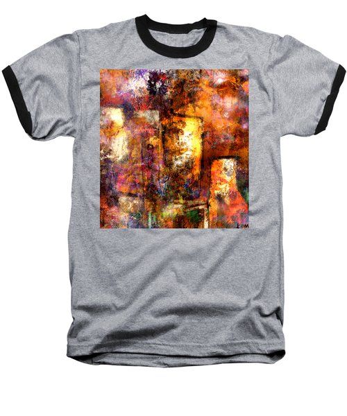 Baseball T-Shirt featuring the mixed media Urban #4 by Kim Gauge