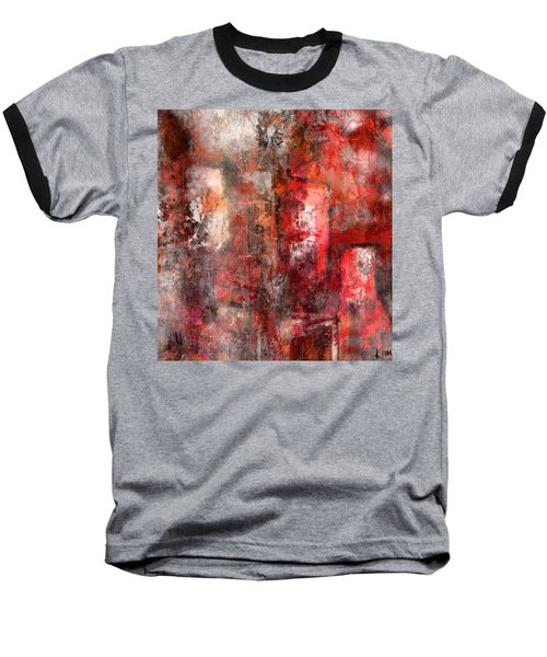 Baseball T-Shirt featuring the mixed media Urban #5 by Kim Gauge