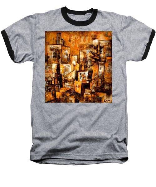 Urban Abstract #1 Baseball T-Shirt by Kim Gauge