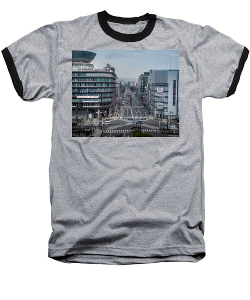 Baseball T-Shirt featuring the photograph Urban Avenue, Kyoto Japan by Perry Rodriguez