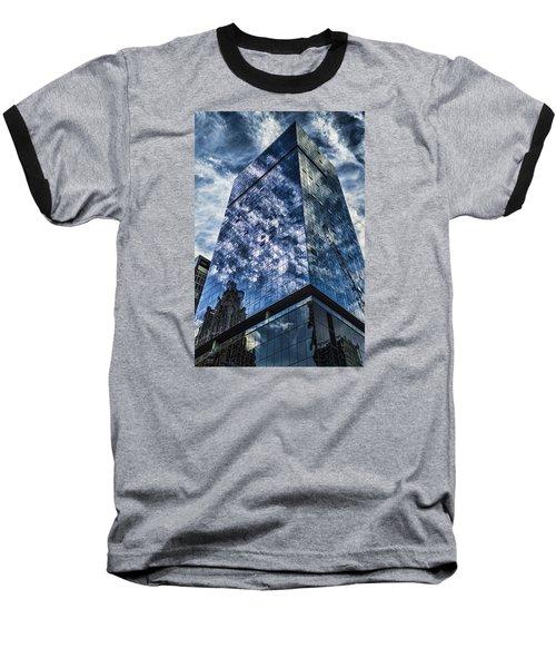 Urban Clouds Reflecting  Baseball T-Shirt
