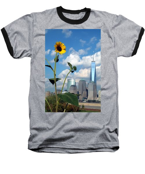 Baseball T-Shirt featuring the photograph Urban Contrast by Michael Dorn
