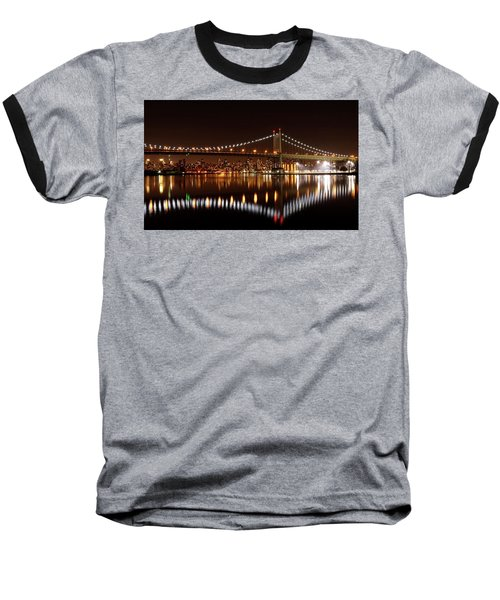 Urban Night Reflection Baseball T-Shirt