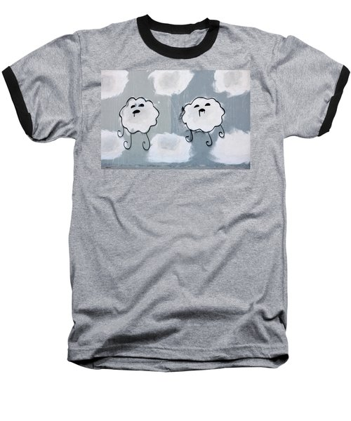 Baseball T-Shirt featuring the photograph Urban Rain Clouds by Art Block Collections