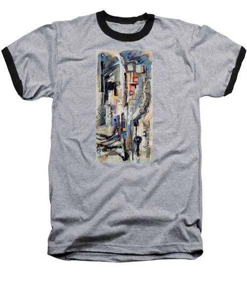 Baseball T-Shirt featuring the painting Urban Street 2 by Mary Schiros