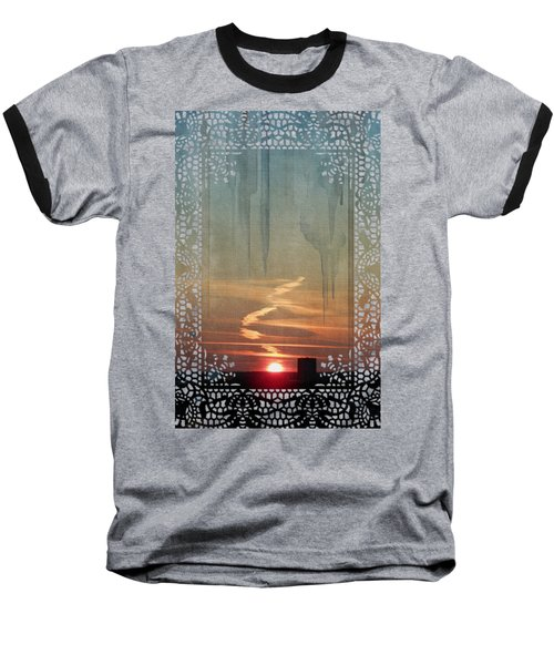 Baseball T-Shirt featuring the painting Urban Sunrise by Ivana Westin