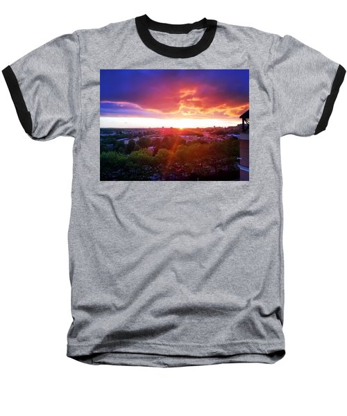 Urban Sunset Baseball T-Shirt
