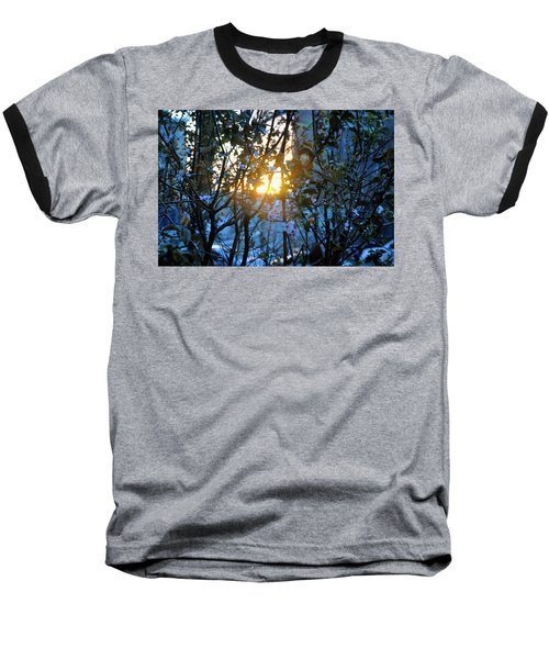 Urban Sunset Baseball T-Shirt by Sarah McKoy
