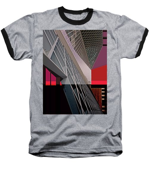 Baseball T-Shirt featuring the digital art Urban Sunset by Walter Fahmy