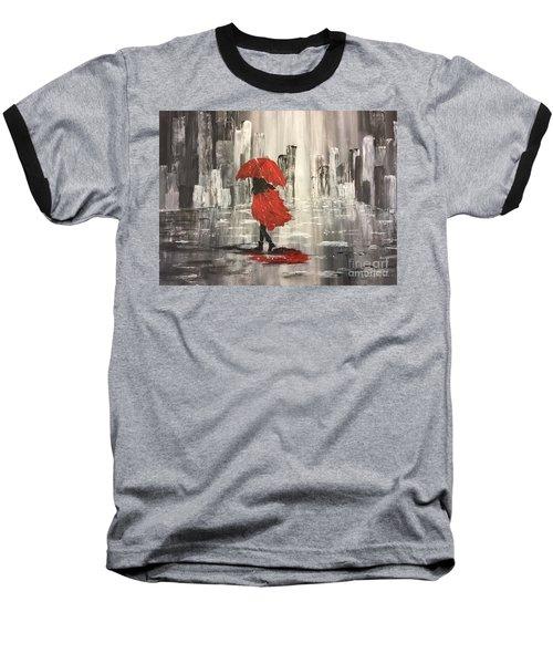 Urban Walk In The Rain Baseball T-Shirt