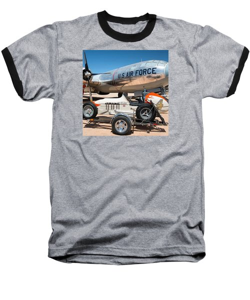 Us Air Force Airplane And Race Car  Baseball T-Shirt