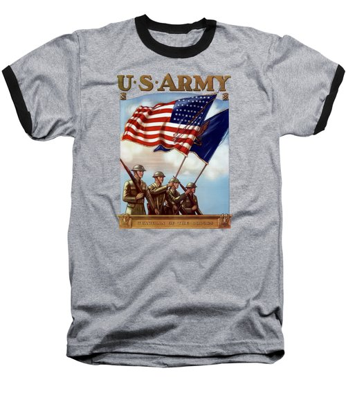 Us Army -- Guardian Of The Colors Baseball T-Shirt