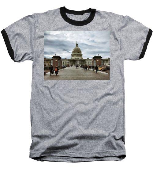 U.s. Capitol Building Baseball T-Shirt