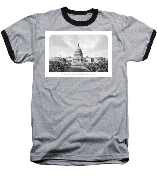 Us Capitol Building - Washington Dc Baseball T-Shirt