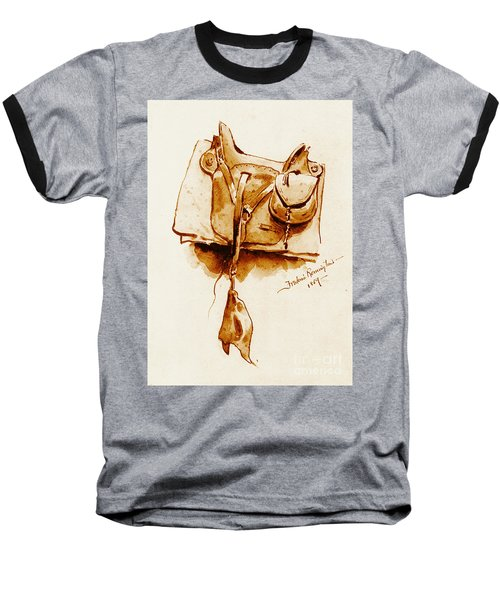 Us Cavalry Saddle 1869 Baseball T-Shirt by Padre Art
