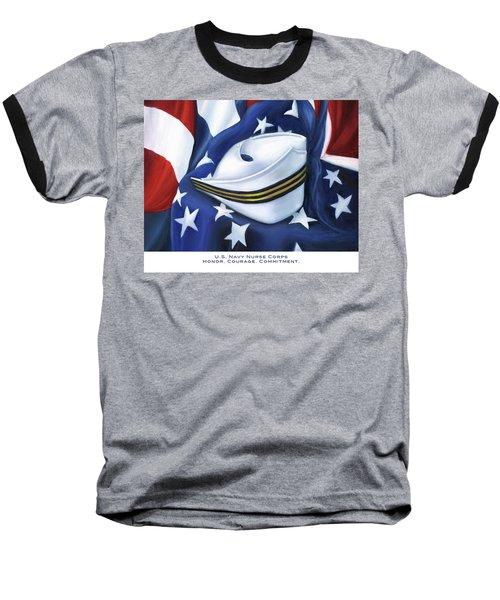 U.s. Navy Nurse Corps Baseball T-Shirt by Marlyn Boyd