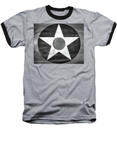Us Roundel, In Black And White - 2017 Christopher Buff, Www.aviationbuff.com Baseball T-Shirt