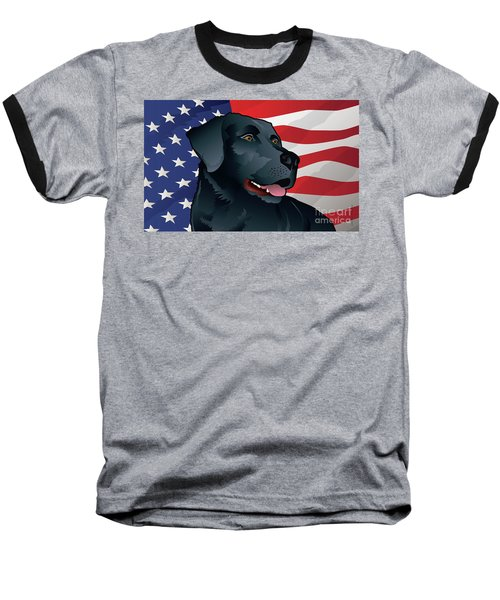 Usa Black Lab Baseball T-Shirt