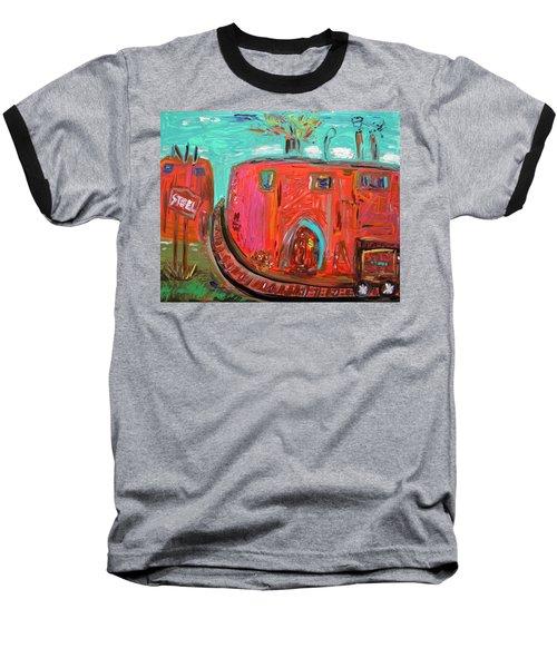 Usa Steel Still Fascinates Baseball T-Shirt by Mary Carol Williams
