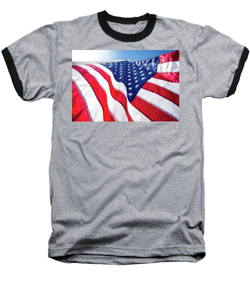 Usa,american Flag,rhe Symbolic Of Liberty,freedom,patriotic,hono Baseball T-Shirt