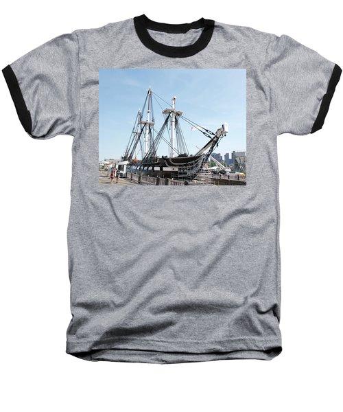 Uss Constitution Dry Dock Baseball T-Shirt by Caroline Stella
