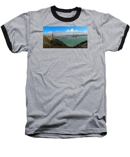 Uss Iowa, Battelship, Golden Gate Bridge, San Francisco, Califor Baseball T-Shirt by Wernher Krutein