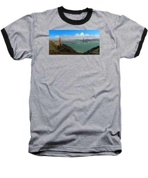 Uss Iowa, Battelship, Golden Gate Bridge, San Francisco, Califor Baseball T-Shirt