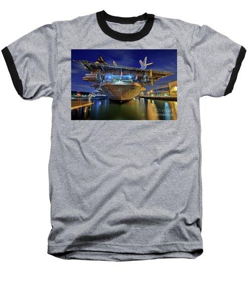 Uss Midway Aircraft Carrier  Baseball T-Shirt